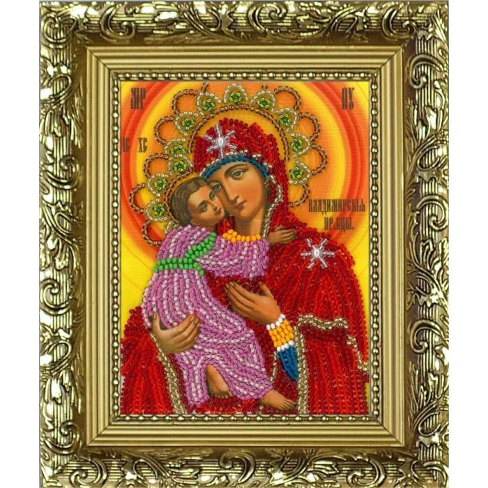 Набор для вышивания бисером (с рамкой) ВЫШИВАЕМ БИСЕРОМ арт.R11 Владимирская икона Б.М. 9,5х12,5см