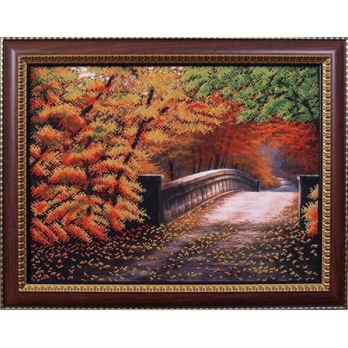 Набор для вышивания бисером МАГИЯ КАНВЫ арт.Б085 Осенний мостик 40х30 см