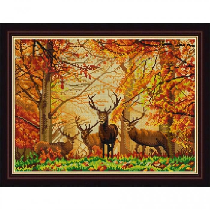 Рисунок на ткани (Бисер) КОНЁК арт. 9884 В лесу 29х39 см