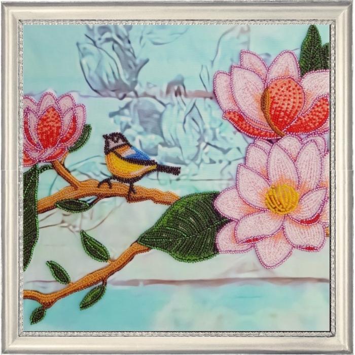 Набор для вышивания BUTTERFLY арт. 164 Ветвь магнолии 2 26х26 см