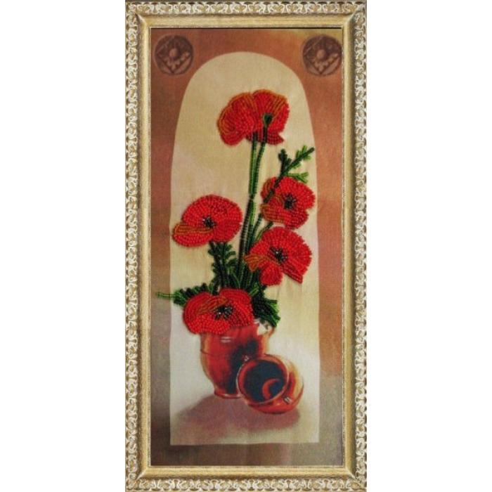 Набор для вышивания BUTTERFLY арт. 207 Маки 27х13 см