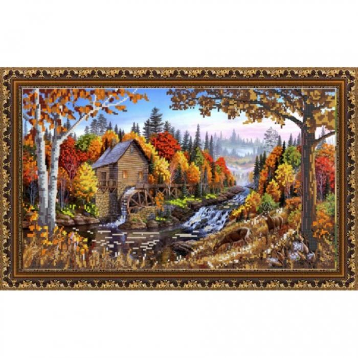 Рисунок на ткани (Бисер) КОНЁК арт. 9837 Природа 25х45 см