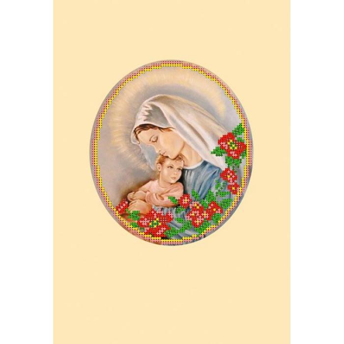 Набор для вышивания бисером с паспарту МАТРЕНИН ПОСАД арт.20,5х30,5 - 24/БП Мать и дитя