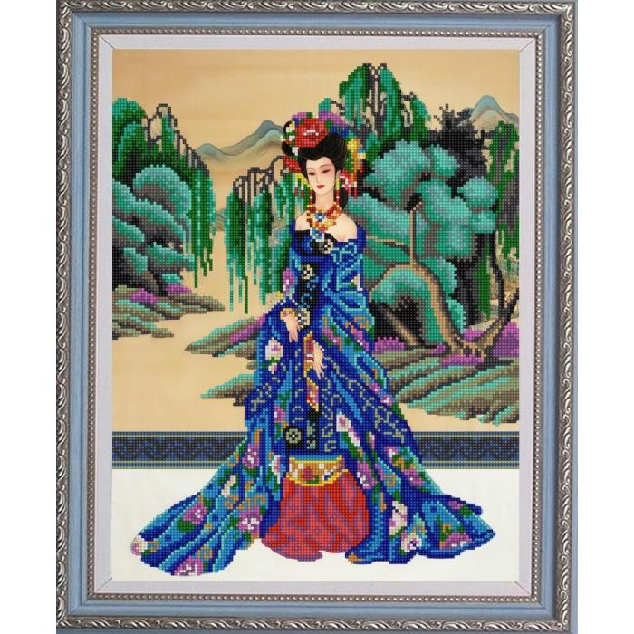 Рисунок на ткани (Бисер) КОНЁК арт. 9957 Красавица востока 29х39 см