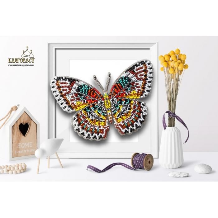 Пластиковая перфорированная основа БЛАГОВЕСТ арт.БС-038 3-D бабочка. Cethosia Cyane