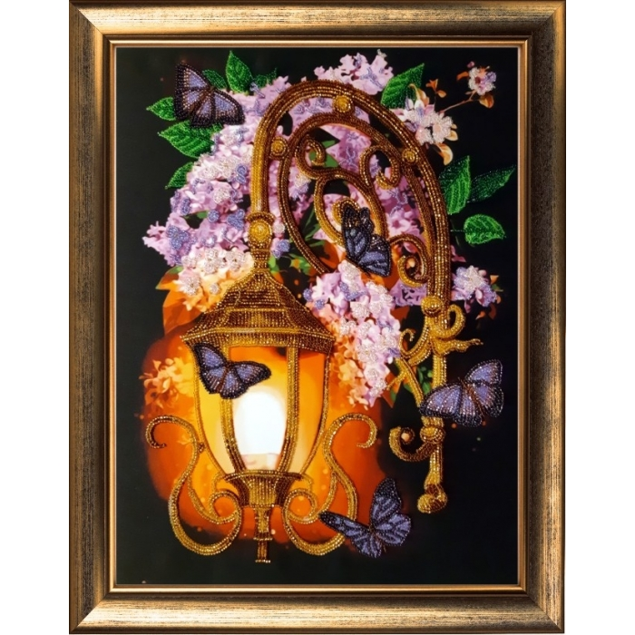 Набор для вышивания BUTTERFLY арт. 128 Сиреневый фонарь 36х27 см