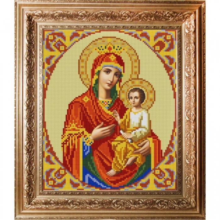 Рисунок на ткани (Бисер) КОНЁК арт. 9213 Богородица Скоропослушница 20х25 см