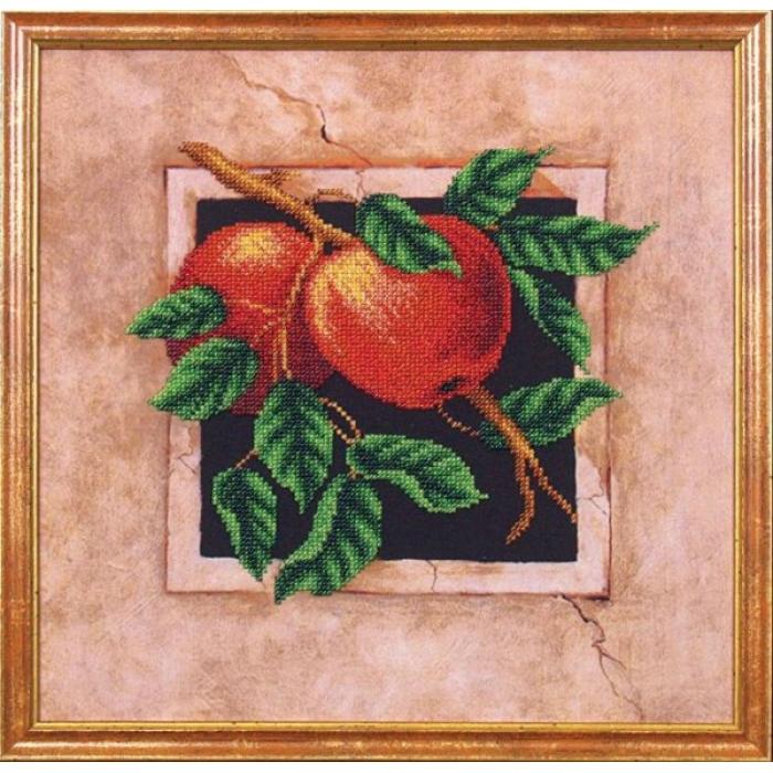 Набор для вышивания бисером МАГИЯ КАНВЫ арт.Б030 Яблоки 29,5х29,5 см