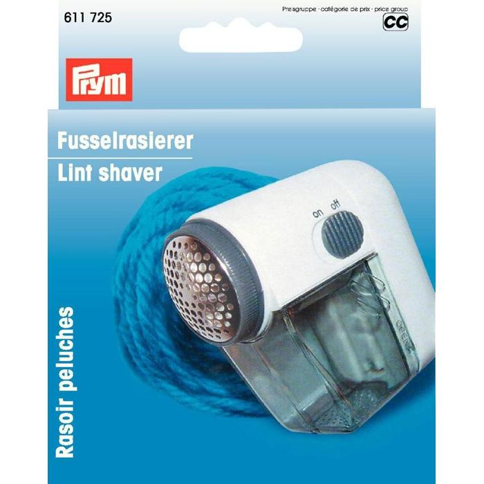 611725 PRYM Машинка д/удаления катышков Мини, белый, пластиковый корпус, метал.сетка