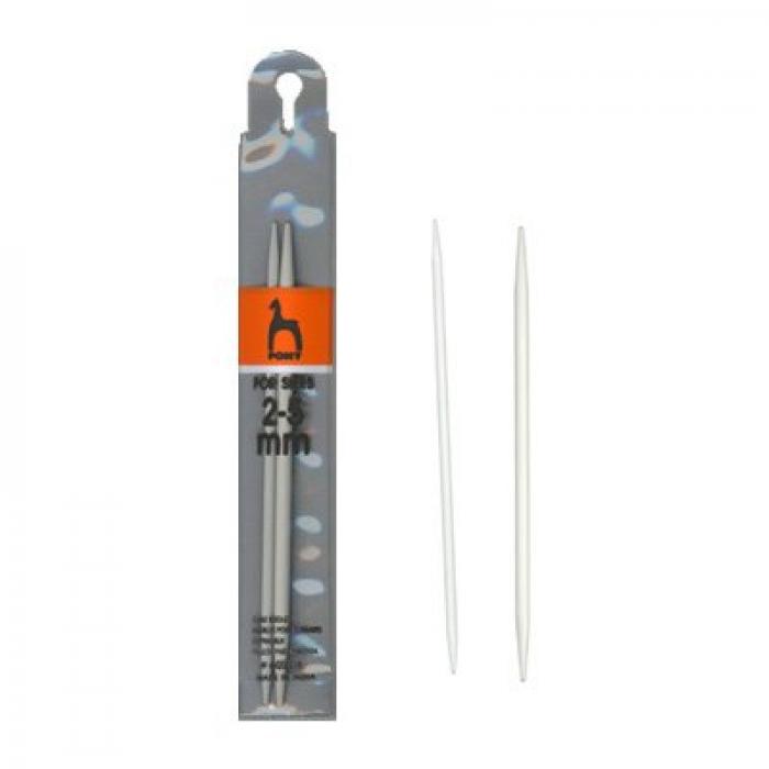 60208 PONY Спицы вспомогательные для кос 3,00 мм/4,00 мм/ 12,7 см, алюминий, 2 шт