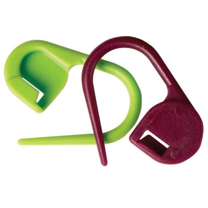 10805 Knit Pro Маркировщик для петель Булавка, пластик, зеленый/красный, уп.30шт