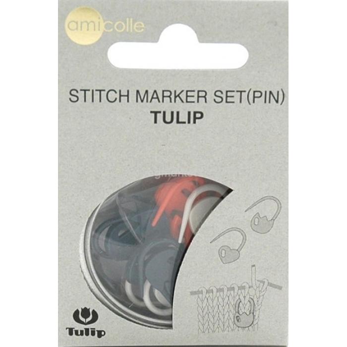 Tulip Набор маркеров для вязания Amicolle, сердце арт.AC-033E пластик, цв.розовый, синий, зеленый по 5 шт.