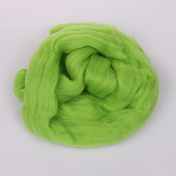 Шерсть для валяния ПЕХОРКА тонкая шерсть (100%меринос.шерсть) 50г цв.483 незрелый лимон