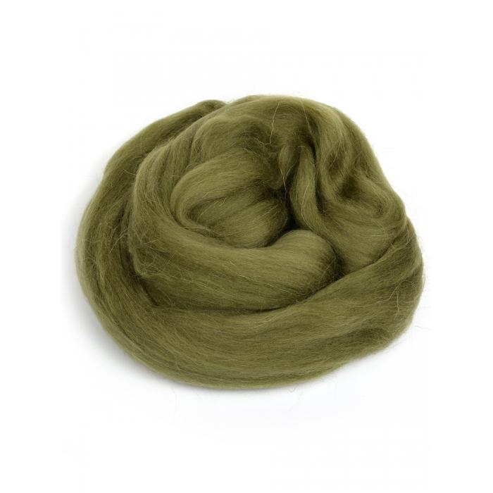 Шерсть для валяния ПЕХОРКА полутонкая шерсть (100%шерсть) 50г цв.478 защитный