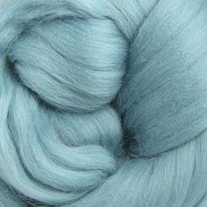 Шерсть для валяния ПЕХОРКА тонкая шерсть (100%меринос.шерсть) 50г цв.752 дымчато-бирюзовый