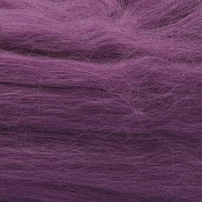 Шерсть для валяния ПЕХОРКА тонкая шерсть (100%меринос.шерсть) 50г цв.191 ежевика