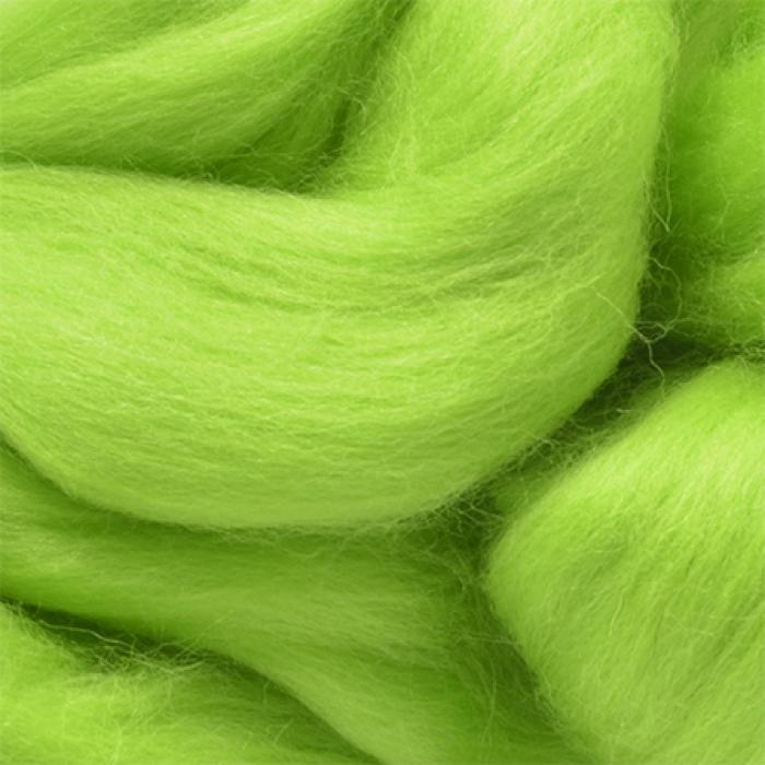 Шерсть для валяния ПЕХОРКА тонкая шерсть (100%меринос.шерсть) 50г цв.193 св.салатовый