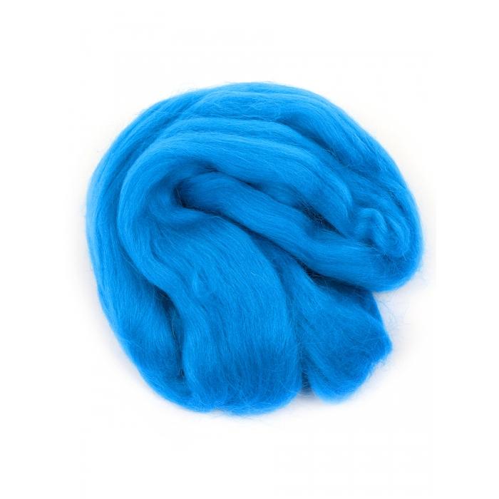 Шерсть для валяния ПЕХОРКА полутонкая шерсть (100%шерсть) 50г цв.026 василек
