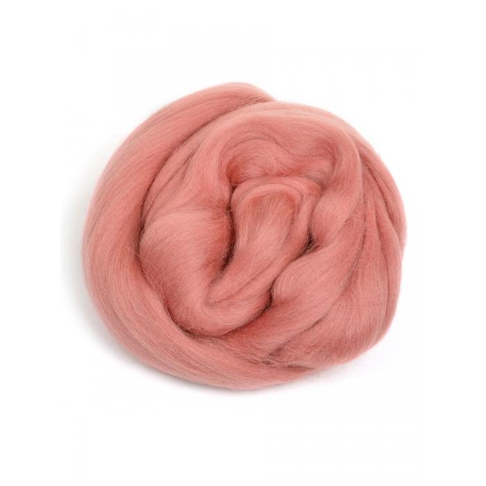 Шерсть для валяния ПЕХОРКА полутонкая шерсть (100%шерсть) 50г цв.021 брусника