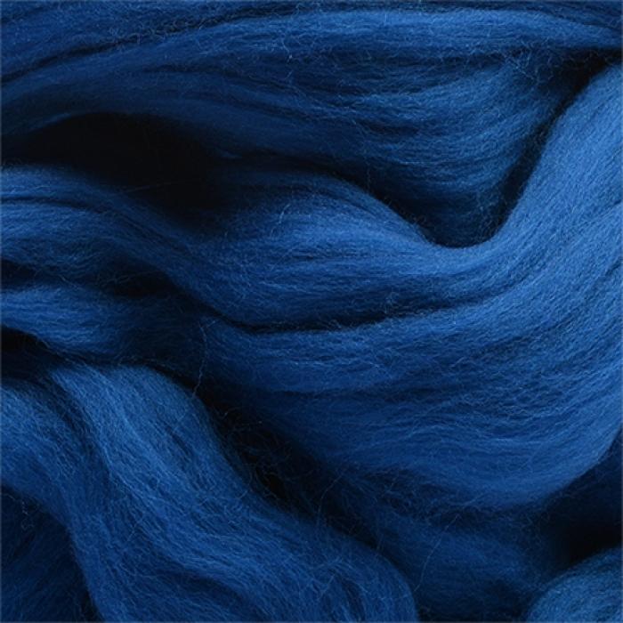 Шерсть для валяния ПЕХОРКА полутонкая шерсть (100%шерсть) 50г цв.100 корол. синий