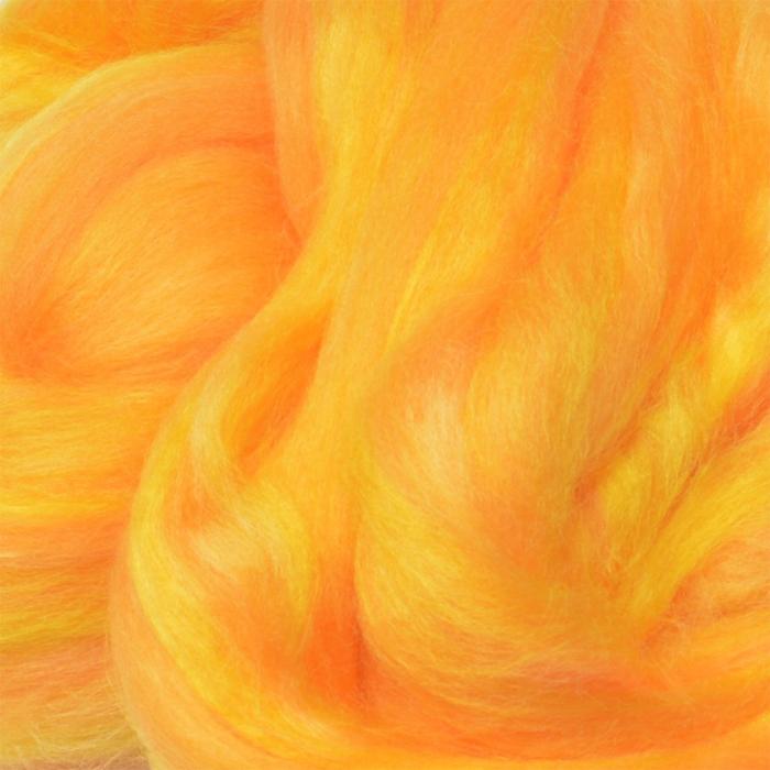 Шерсть для валяния ПЕХОРКА тонкая шерсть (100%меринос.шерсть) 50г цв.340 листопад