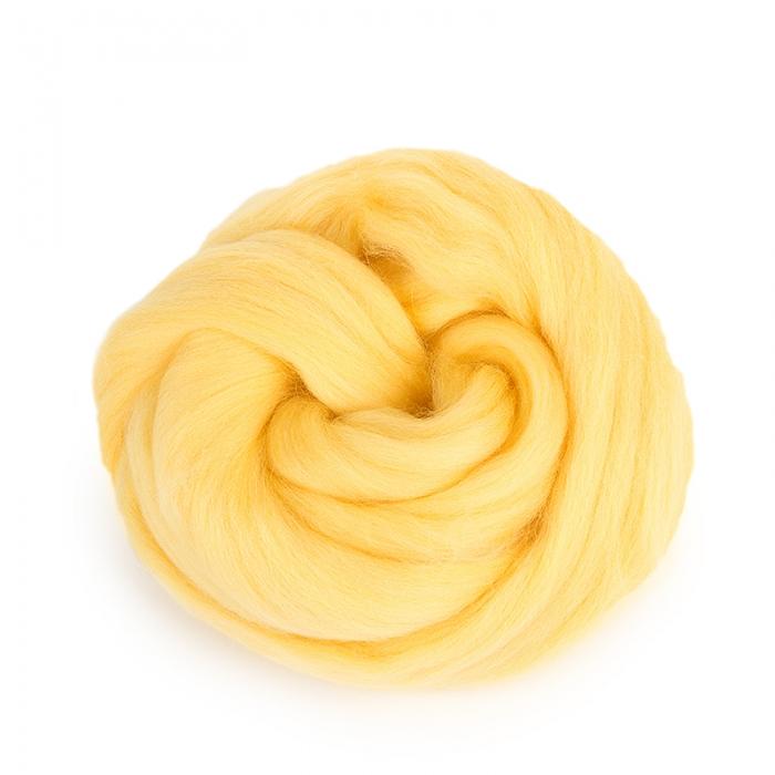 Шерсть для валяния ПЕХОРКА тонкая шерсть (100%меринос.шерсть) 50г цв.053 св.желтый