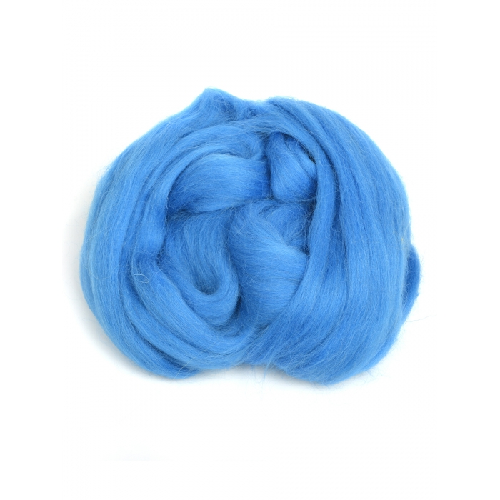 Шерсть для валяния ПЕХОРКА полутонкая шерсть (100%шерсть) 50г цв.420 арктика