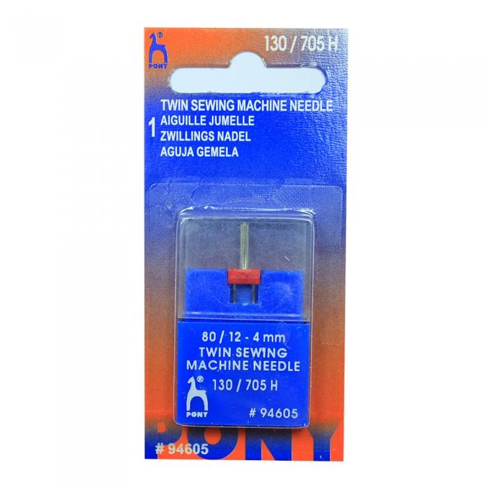 94605 PONY Игла машинная двойная № 80, 4,00 мм уп.1 игла