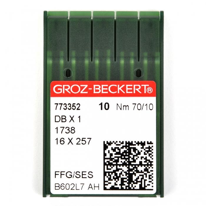 773352 Groz-Beckert Игла для ПШМ DBx1/1738/16x257 FFG №70 уп.10 игл