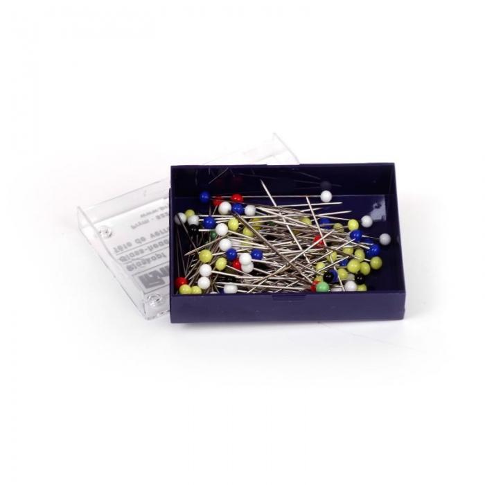 29129 PRYM Булавки со стеклянными головками, цветные, термоуст. закаленные для шитья 30х0,60мм уп.10г