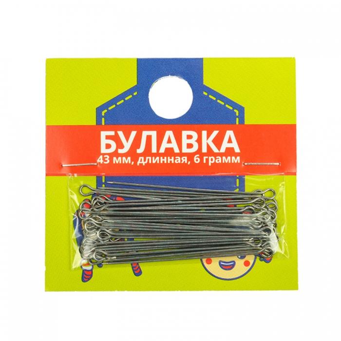 Булавка с ушком арт С3-0743 (1-43мм) уп.6г