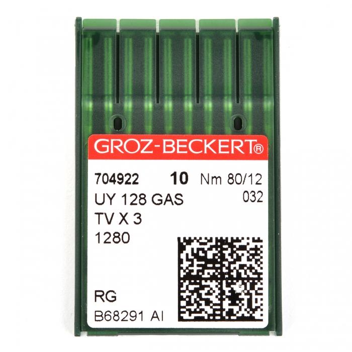 704922 Groz-Beckert Игла для ПШМ UY128GAS R/1280/149X3 №80 уп.10 игл