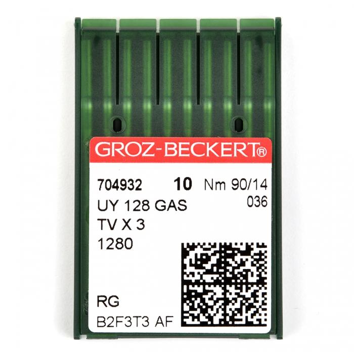 704932 Groz-Beckert Игла для ПШМ UY128GAS R/1280/149X3 №90 уп.10 игл