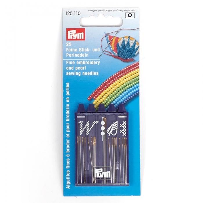 125110 PRYM Иглы ручные д/вышивки и бисероплетения уп.25шт