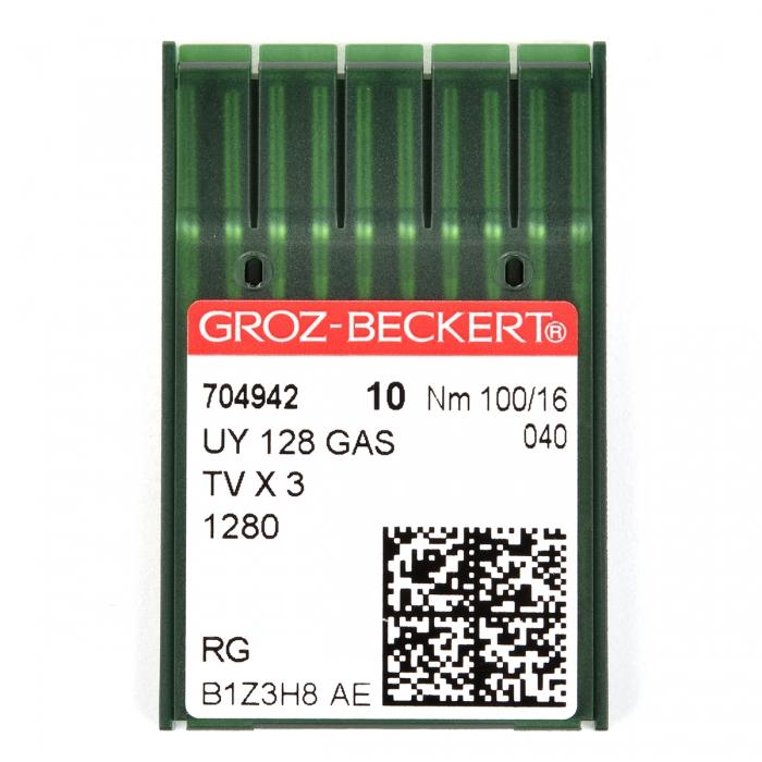 704942 Groz-Beckert Игла для ПШМ UY128GAS R/1280/149X3 №100 уп.10 игл
