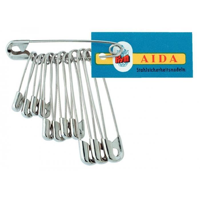 85197 PRYM Булавки английские, сталь с защитой от ржавчины, со спиралью 27/38/50мм цв.серебристый уп.12шт