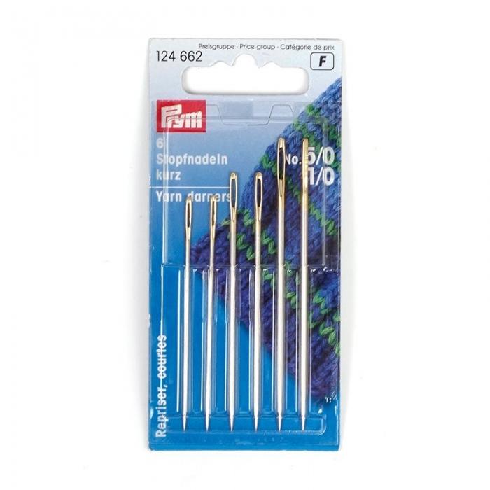 124662 PRYM Иглы ручные для штопки короткие №5/0-1/0 уп.6шт