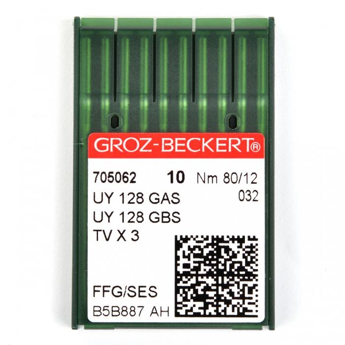 705062 Groz-Beckert Игла для ПШМ UY128GAS/UY128GBS FFG №80 уп.10 игл