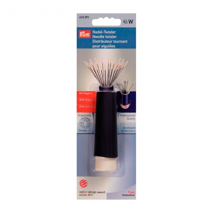 610291 PRYM Вращающаяся игольница-твистер с магнитом пластик без содержимого цв. фиолетовый/бел