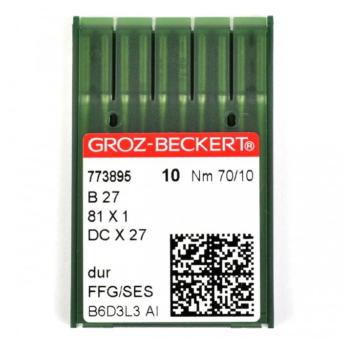 773895 Groz-Beckert Игла для ПШМ B27/81x1/DCx27/DCx1 FFG №70 уп.10 игл