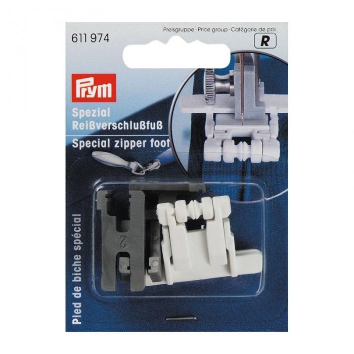 611974 PRYM Лапка д/притачивания потайных застежек-молний уп.1лапка и 3 адаптера