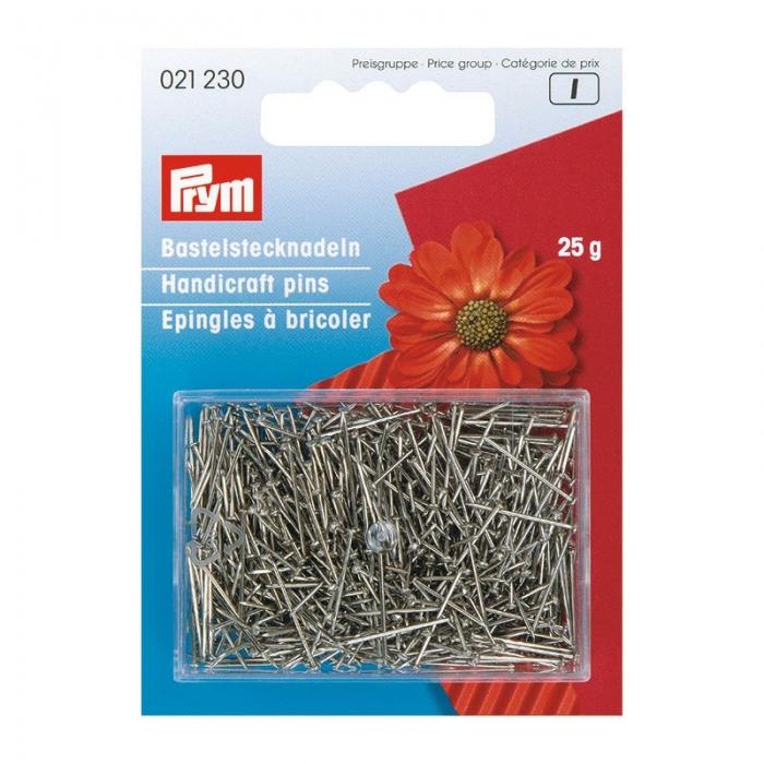 21230 PRYM Булавки серебристые для ручных работ 65 мм железо с защитой от ржавчины уп.25г
