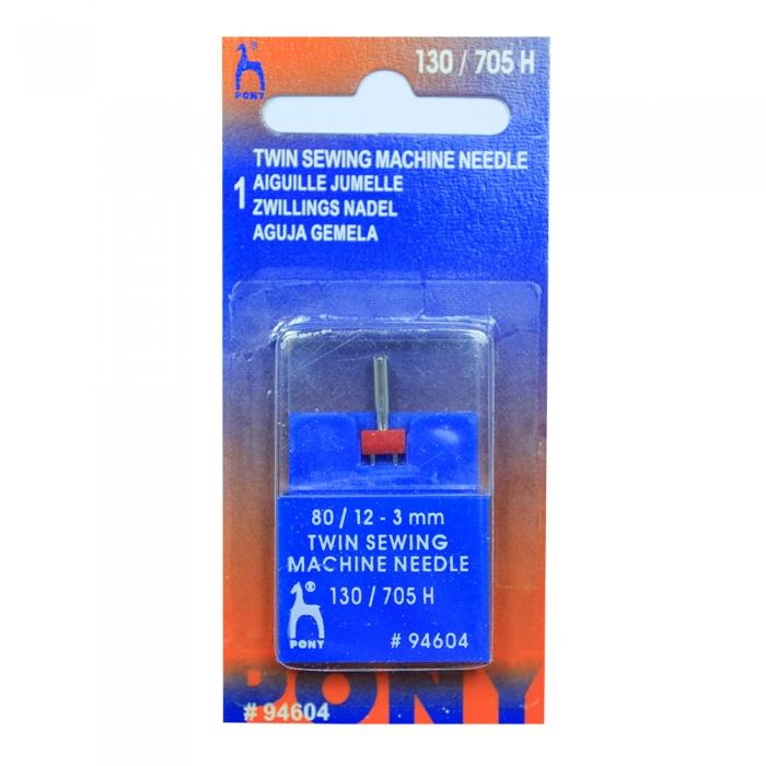 94604 PONY Игла машинная двойная № 80, 3,00 мм уп.1 игла
