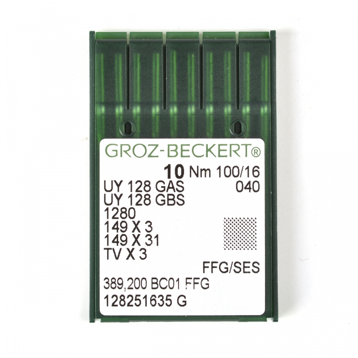705082 Groz-Beckert Игла для ПШМ UY128GAS/UY128GBS FFG №100 уп.10 игл
