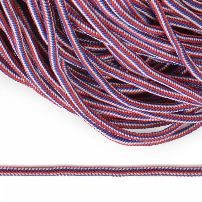 Шнур круглый полиэфир 04мм арт. 1с-36 цв.синий/красный/белый цв.синий/красный/белый уп.200м