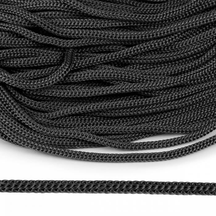 Шнур полипропилен пп5 для люверсов пикколо 5мм цв.т.серый уп.100м