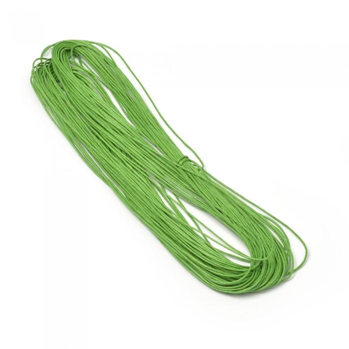 Шнур вощеный 1,2мм арт.С239 цв.зеленый уп.20м
