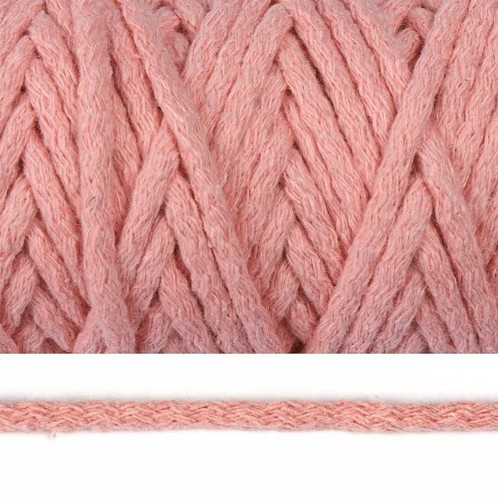 Шнур круглый х/б 05мм цв.2126 св.розовый уп.50м