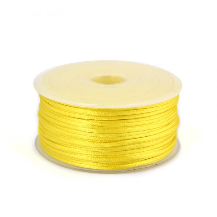 Шнур TBY атласный круглый 2мм цв.3014 желтый уп.50м
