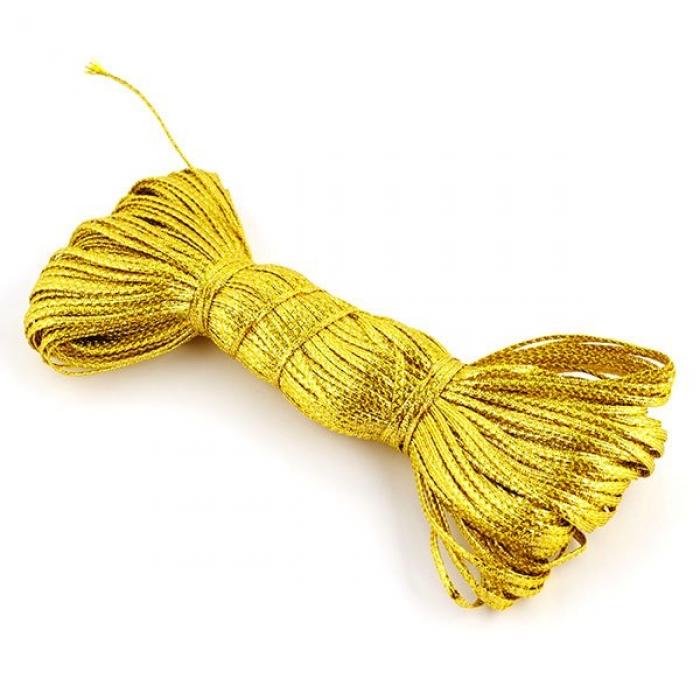 Шнур отделочный декоративный арт. С3027Г17 2-3мм рис.8590 цв.20 золото уп.50м